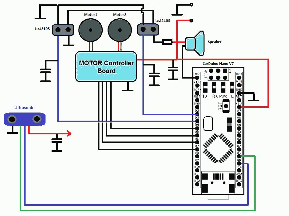 Схема подключения моторов